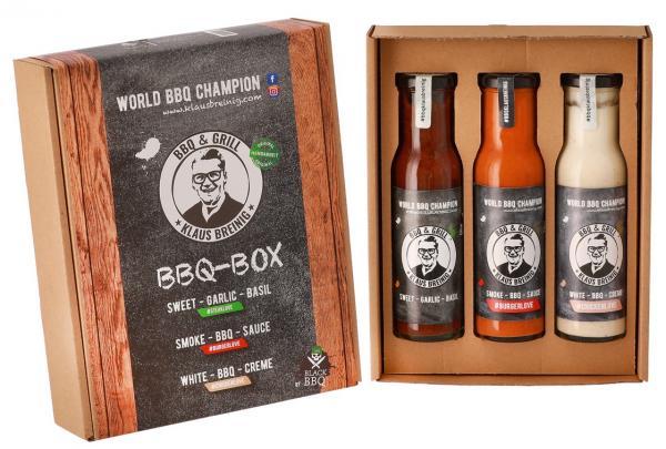 BBQ BOX World BBQ Champion Klaus Breinig mit 3 Saucen